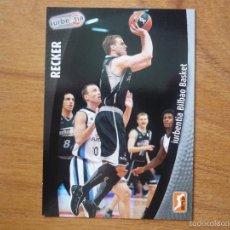 Coleccionismo deportivo: BALONCESTO ACB 2008 2009 PANINI Nº 134 LUKE RECKER (IURBENTIA BILBAO) - BASKET CROMO 08 09 . Lote 156201906