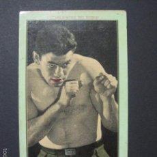 Coleccionismo deportivo: PAULINO UZCUDUN-NOTABILIDADES DEL BOXEO-NUM.1-CHOCOLATES JUNCOSA -MIDE 8X13 CM.-VER FOTOS-(V-6338). Lote 57997322
