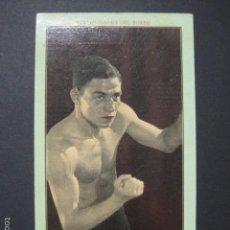 Coleccionismo deportivo: JOSE GIRONES -NOTABILIDADES DEL BOXEO-NUM.5 -CHOCOLATES JUNCOSA -MIDE 8X13 CM.-VER FOTOS-(V-6342). Lote 57997418