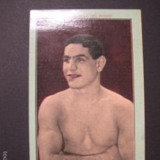 Coleccionismo deportivo: JIM MORAN -NOTABILIDADES DEL BOXEO-NUM.6 -CHOCOLATES JUNCOSA -MIDE 8X13 CM.-VER FOTOS-(V-6343). Lote 57997435
