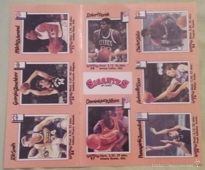 CROMOS ADHESIVOS / PEGATINAS REVISTA GIGANTES DEL BASKET AÑO1989 (Coleccionismo Deportivo - Cromos otros Deportes)