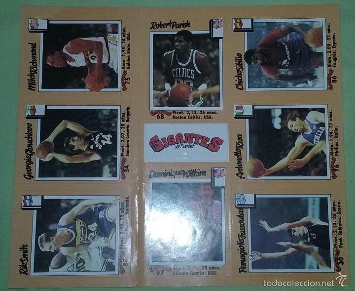 Coleccionismo deportivo: CROMOS ADHESIVOS / PEGATINAS REVISTA GIGANTES DEL BASKET AÑO1989 - Foto 2 - 131897651