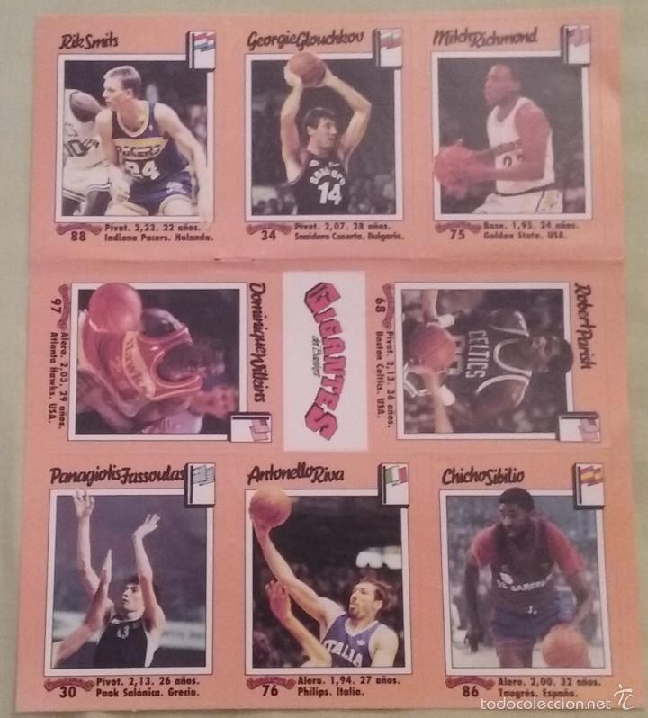 Coleccionismo deportivo: CROMOS ADHESIVOS / PEGATINAS REVISTA GIGANTES DEL BASKET AÑO1989 - Foto 4 - 131897651