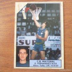 Coleccionismo deportivo: CROMO CONVERSE BALONCESTO 1988 89 Nº 122 FERNANDEZ RUIZ (MAYORAL) - BASKET 1988 89. Lote 150269858