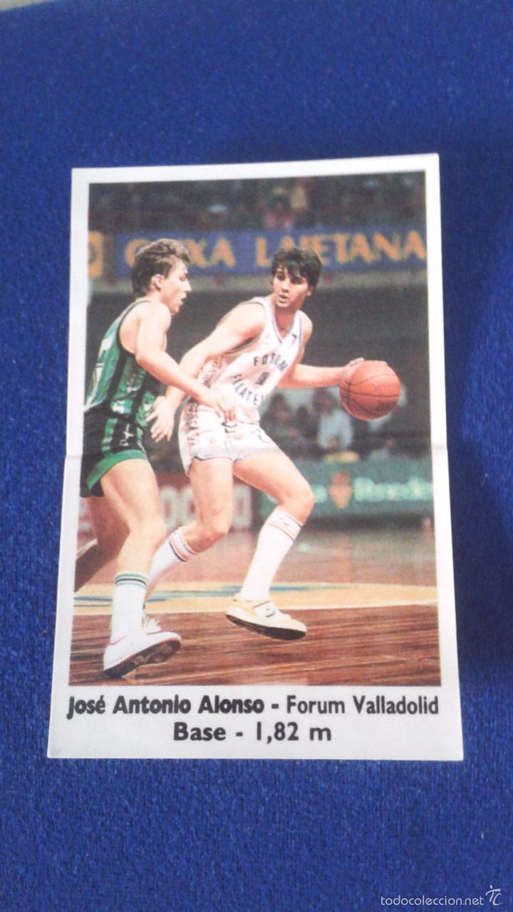 BASKET 88-89 BOLLYCAO NUNCA PEGADO. FORUM VALLADOLID JOSE ANTONIO ALONSO 73 (Coleccionismo Deportivo - Cromos otros Deportes)