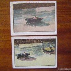 Coleccionismo deportivo: 2 CROMOS DE CHOCOLATE DE CARRERAS DE AUTOMÓVILES EN EL AUTÓDROMO DE SITGES ( BARCELONA )- AÑOS 20. Lote 59630111