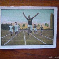 Coleccionismo deportivo: CROMO DEPORTES - CARRERAS A PIE - 200 METROS LISOS ( R.C.D. ESPAÑOL / ESPANYOL DE BARCELONA ). Lote 59630572