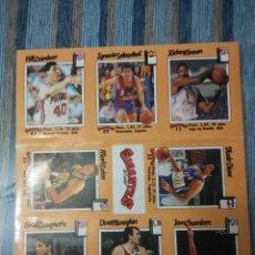 Coleccionismo deportivo: LAMINA CON 9 CROMOS DE BALONCESTO GIGANTES DEL BASKET (1989). Lote 59868680
