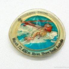Coleccionismo deportivo: CROMO DE PLÁSTICO CHAPA DE COCA COLA - MONTREAL 1976 - HISTORIA DE LOS JUEGOS OLÍMPICOS. Lote 60956315