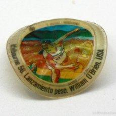 Coleccionismo deportivo: CROMO DE PLÁSTICO CHAPA DE COCA COLA - MONTREAL 1976 - HISTORIA DE LOS JUEGOS OLÍMPICOS. Lote 60957955
