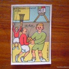 Coleccionismo deportivo: PRECIOSO CROMO BALONCESTO / BASKET-BALL / BASKETBALL AÑOS 20 DIBUJADO POR MASIÁ - NÚMERO 38 DEPORTES. Lote 61146983