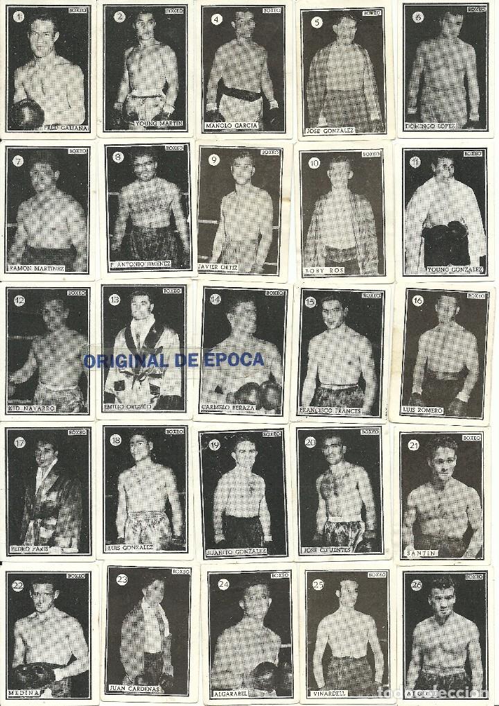 (F-161017)CROMOS BOXEO Y LUCHA,AÑOS 50-60,TAMBIEN SUELTOS (Coleccionismo Deportivo - Cromos otros Deportes)