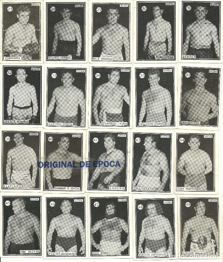 Coleccionismo deportivo: (F-161017)CROMOS BOXEO Y LUCHA,AÑOS 50-60,TAMBIEN SUELTOS - Foto 2 - 62071904