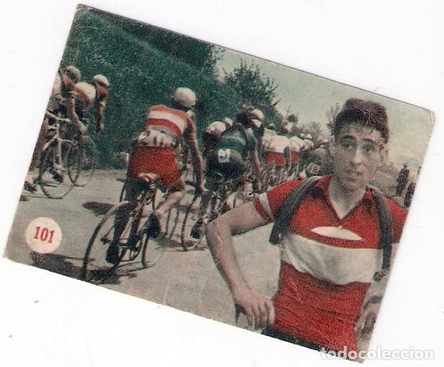 JESÚS LOROÑO, CICLISMO, EN EL GIRO DE 1953, ESCENAS DEPORTIVAS FHER N⁰ 101 (Coleccionismo Deportivo - Cromos otros Deportes)