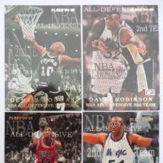 Coleccionismo deportivo: FLEER - NBA - 94-95 - PANINI - CROMOS: ALL DEFENSIVE TEAM. Lote 70567909