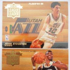 Coleccionismo deportivo: FLEER - NBA - 94-95 - PANINI - CROMOS: NBA LEAGUE LEADERS - LEADER. Lote 70568321