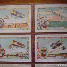 Coleccionismo deportivo: LA CONQUISTA DEL AIRE - COLECCION COMPLETA 20 CROMOS - MUY BUEN ESTADO - CHOCOLATES MONCAU 1912. Lote 71711031