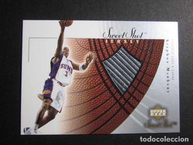 STEPHON MARBURY #SM-J JERSEY CAMISETA NBA SWEET SHOTS ROOKIE UPPER DECK 2002 2003 NUEVO (Coleccionismo Deportivo - Cromos otros Deportes)