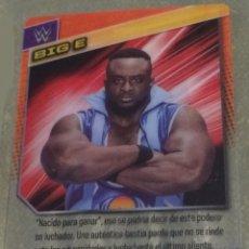 Coleccionismo deportivo: WWE PANINI. COLECCIÓN 2015. TRADING CARD Nº 46: BIG E. DE PLÁSTICO. DISTINTA EN CADA CARA.. Lote 72478107