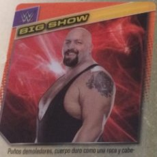Coleccionismo deportivo: WWE PANINI. COLECCIÓN 2015. TRADING CARD Nº 67: BIG SHOW. DE PLÁSTICO. DISTINTA EN CADA CARA.. Lote 72485959