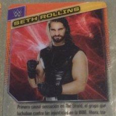 Coleccionismo deportivo: WWE PANINI. COLECCIÓN 2015. TRADING CARD Nº 70: SETH ROLLINS. PLÁSTICO. DISTINTA EN CADA CARA.. Lote 72487079