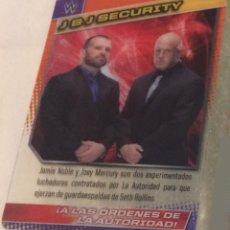 Coleccionismo deportivo: WWE PANINI. COLECCIÓN 2015. TRADING CARD Nº 90: J&J SECURITY. DE PLÁSTICO. DISTINTA EN CADA CARA.. Lote 72495315
