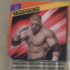 Coleccionismo deportivo: WWE PANINI. COLECCIÓN 2015. TRADING CARD Nº 158: TRIPLE H. DE PLÁSTICO. DISTINTA EN CADA CARA.. Lote 72501595
