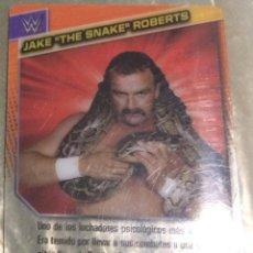 Coleccionismo deportivo: WWE PANINI. COLECCIÓN 2015. TRADING CARD Nº 173: JAKE 'THE SNAKE' ROBERTS. DISTINTA EN CADA CARA.. Lote 72503383