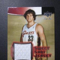Coleccionismo deportivo: LUKE JACKSON JERSEY CAMISETA SWEET SHOT JERSEY 2004 05 UPPER DECK CROMO TRADING CARD NBA. Lote 73039035