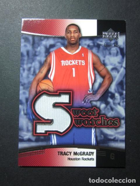 TRACY MCGRADY JERSEY CAMISETA SWEET SWATCHES 2004 05 UPPER DECK CROMO TRADING CARD NBA (Coleccionismo Deportivo - Cromos otros Deportes)