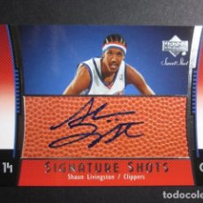 Coleccionismo deportivo - SHAUN LIVINGSTON FIRMADO SIGNATURE SHOTS SWEET SHOT 2004 05 UPPER DECK CROMO TRADING CARD NBA - 73053475