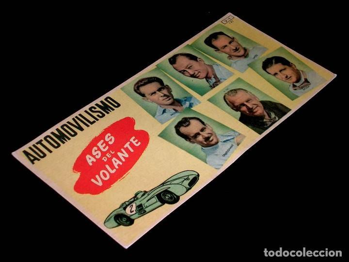 CROMO FICHA V-1 (3). ASES DEL VOLANTE MUSSO, BIRA, MOSS, KLING, PACO GODIA, CHOCOLATES BATANGA 1955. (Coleccionismo Deportivo - Cromos otros Deportes)