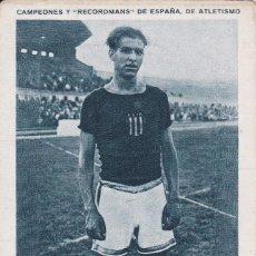 Coleccionismo deportivo: ANTIGUO CROMO CAMPEONES Y RECORDMANS DE ESPAÑA DE ATLETISMO - GERARDO GARCIA Nº 10 (SIN PUBLICIDAD). Lote 73703059