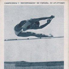 Coleccionismo deportivo: ANTIGUO CROMO CAMPEONES Y RECORDMANS DE ESPAÑA DE ATLETISMO - JOSE LACOMBA Nº 11 (SIN PUBLICIDAD). Lote 73703175