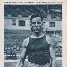 Coleccionismo deportivo: ANTIGUO CROMO CAMPEONES Y RECORDMANS DE ESPAÑA DE ATLETISMO - JOSE CULI Nº 13 (SIN PUBLICIDAD). Lote 73703423