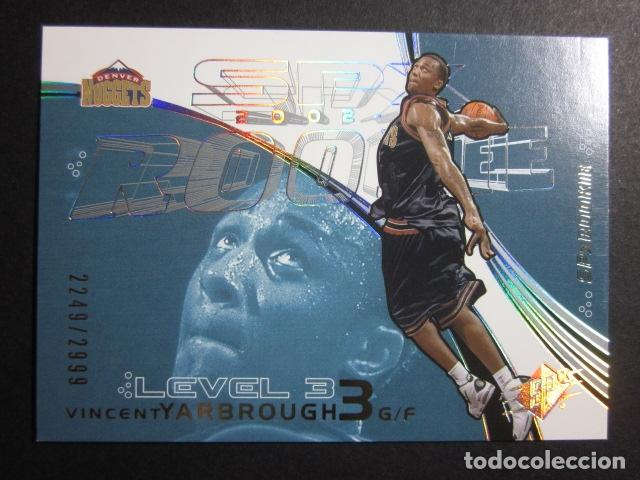 VINCENT YARBROUGH 2249/2999 SPX 2002 03 ROOKIE UPPER DECK NBA BASKETBALL CARD (Coleccionismo Deportivo - Cromos otros Deportes)