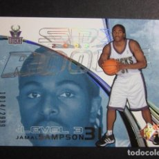 Coleccionismo deportivo: JAMAL SAMPSON 1014/2999 SPX 2002 03 ROOKIE UPPER DECK NBA BASKETBALL CARD. Lote 74028291