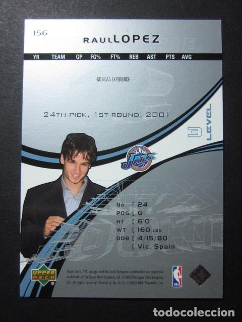 Coleccionismo deportivo: RAUL LOPEZ 2778/2999 SPX 2002 03 ROOKIE UPPER DECK NBA BASKETBALL CARD - Foto 2 - 74028375
