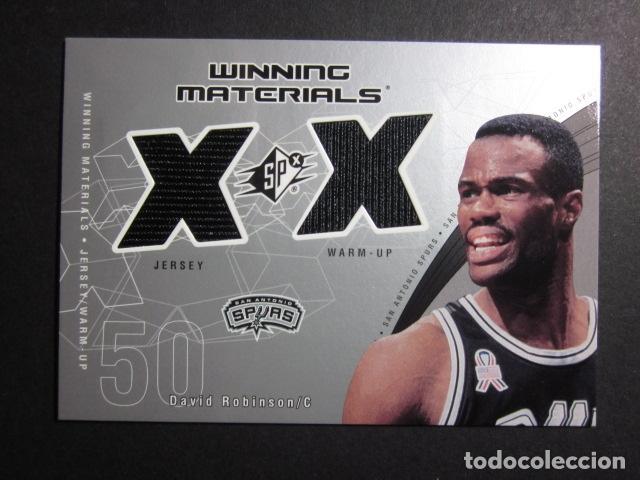 DAVID ROBINSON WINNING MATERIALS 2002 03 UPPER DECK NBA BASKETBALL CARD (Coleccionismo Deportivo - Cromos otros Deportes)