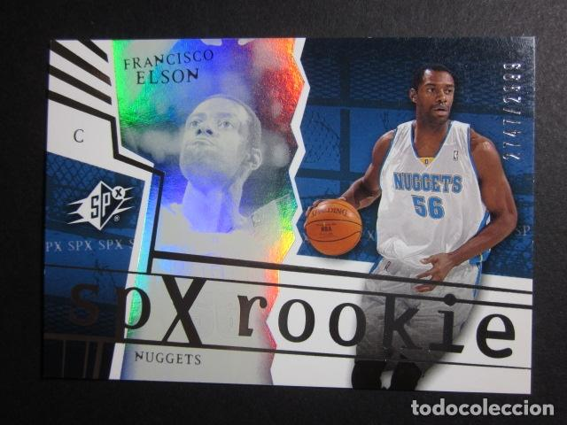 Coleccionismo deportivo: FRANCISCO ELSON 2741/2999 SPX ROOKIE 2002 03 UPPER DECK NBA BASKETBALL CARD - Foto 1 - 74029839
