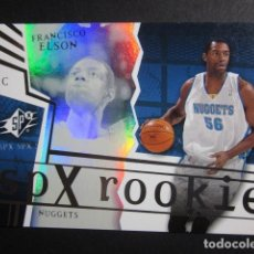 Coleccionismo deportivo: FRANCISCO ELSON 2741/2999 SPX ROOKIE 2002 03 UPPER DECK NBA BASKETBALL CARD. Lote 74029839