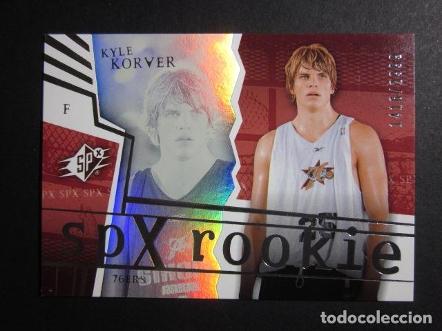 KYLE KORVER 1416/2999 SPX ROOKIE 2002 03 UPPER DECK NBA BASKETBALL CARD (Coleccionismo Deportivo - Cromos otros Deportes)