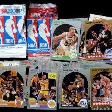 Coleccionismo deportivo: 60 CROMOS BALONCESTO Y 2 SOBRES VACIOS. NBA. HOOPS. AÑO:1990. TRADING CARD. BASKETBALL. BUEN ESTADO.. Lote 74701887