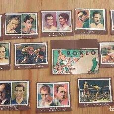 Coleccionismo deportivo: GALLINA BLANCA 2 DE 1949 LOTE DE CROMOS DE BOXEO. Lote 88191472