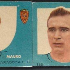 Coleccionismo deportivo: 9337- 2 CROMOS NUEVO ED. BRUGUERA LIGA 1958-59/58-59 -REAL ZARAGOZA. Lote 89180928