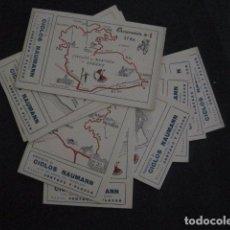 Coleccionismo deportivo: CICLISMO-COLECCION 10 CROMOS EXCURSIONES BICICLETAS-PUBLICIDAD CICLOS NAUMANN-VER FOTOS-(V-11.533). Lote 89590476
