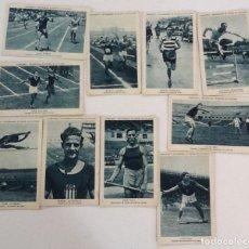 Coleccionismo deportivo: CAMPEONES Y RECORDMANS DE ESPAÑA DE ATLETISMO, LOTE DE 8 CROMOS DE 21 QUE COMPONE LA COLE. Lote 175839582