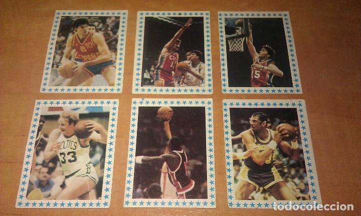 LOTE DE 6 CROMOS ESTRELLAS DEL BALONCESTO Y NBA AÑO 1985 DE CLESA CON EL CROMO DE MICHAEL JORDAN (Coleccionismo Deportivo - Cromos otros Deportes)