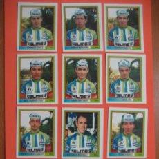 Coleccionismo deportivo: CICLISMO: 10 CROMOS DE CICLISTAS + BICICLETA - EQUIPO KELME - 1995 - GIRO ITALIA. Lote 93880920