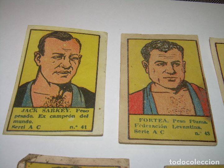 Coleccionismo deportivo: SIETE CROMOS AÑOS 20....BOXEADORES. - Foto 2 - 94424826